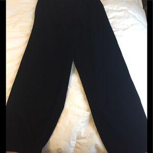 NWT Talbots wide leg black velvet pants
